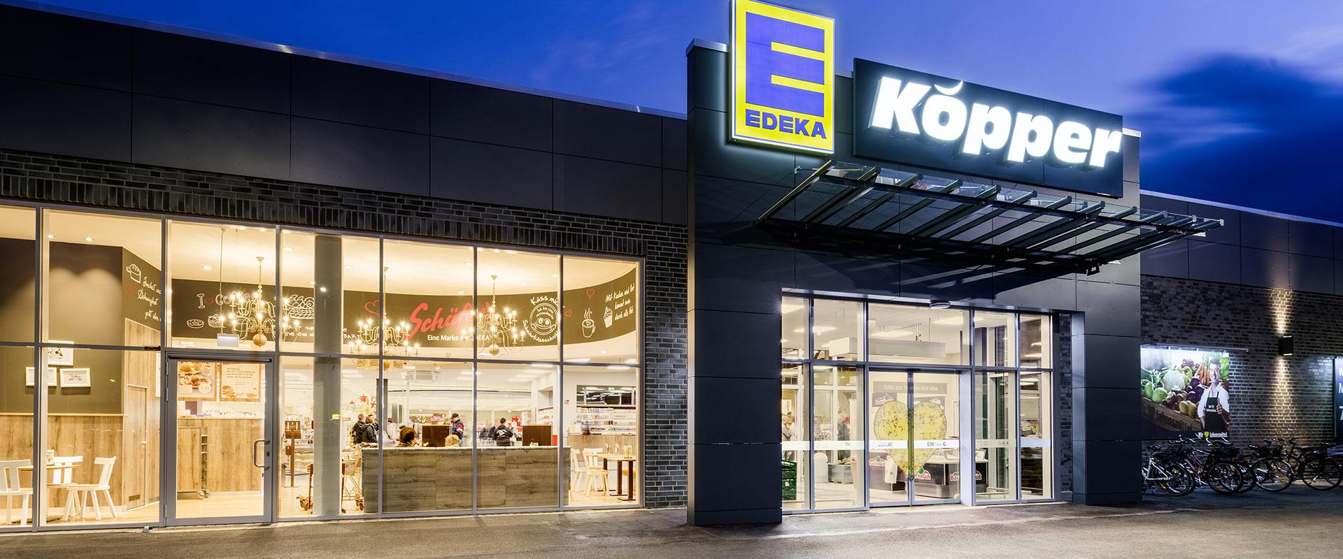 Освещение супермаркета EDEKA в Нидернвёрене